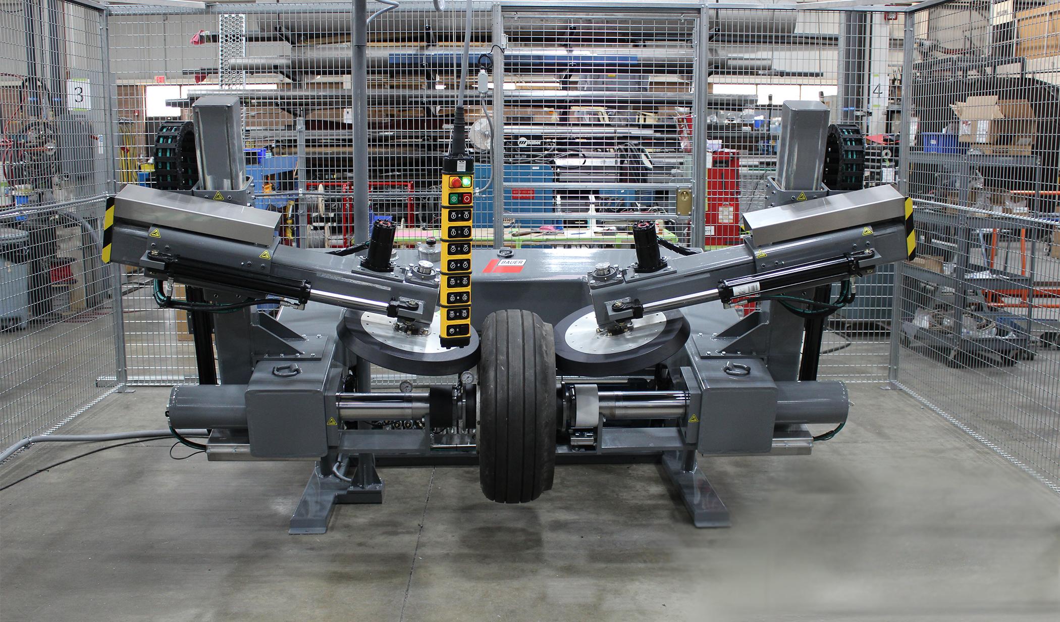 model  aircraft tire bead breaker bauer